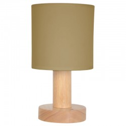 Lampe tactile bois Taupe