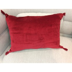 Coussin rouge patna