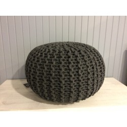 Pouf Tricot 50*30 Anthracite